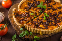 Delish quiche onion Royalty Free Stock Photography