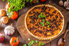 Delish quiche onion Royalty Free Stock Images