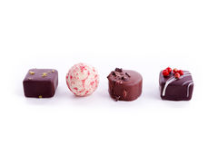 Delisious sweet praline collection mixed isolated Stock Image