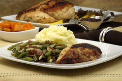 Delisious thanksgiving turkey breast diner Stock Photo