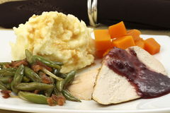 Delisious thanksgiving turkey breast diner Royalty Free Stock Image