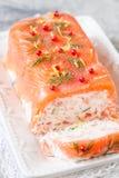 Delisius salmon terrine Stock Photos