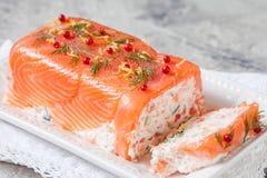 Delisius salmon terrine Stock Images