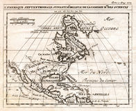 1712 DeLisle Map of North America. An early antique map of North America showing Canada, Mexico and the British Colonies prior the American Revolution Royalty Free Stock Photos