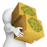 We Deliver Boxes Show Transportation Royalty Free Stock Images