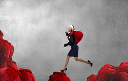 Deliver Christmas gifts for you Stock Photography