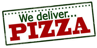 We deliver pizza Royalty Free Stock Image