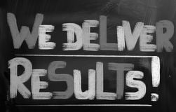 We Deliver Results Concept Royalty Free Stock Photo