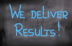 We Deliver Results Concept Stock Photography