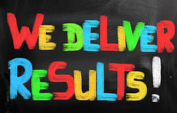 We Deliver Results Concept Stock Image