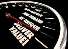 Deliver Value Speedometer. Passion Unique 3d Illustration vector illustration