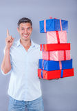 Deliver your online bought gifts Royalty Free Stock Photo