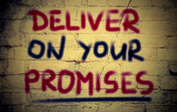 Deliver On Your Promises Concept Royalty Free Stock Images