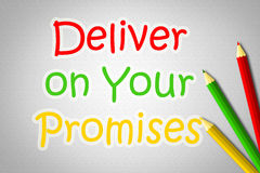 Deliver On Your Promises Concept royalty free illustration