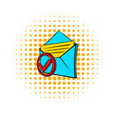 Delivered e-mail icon, pop-art style Stock Image