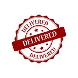 Delivered stamp illustration Royalty Free Stock Photo