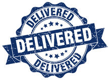 Delivered stamp Royalty Free Stock Photo