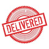 Delivered stamp rubber grunge Royalty Free Stock Photo