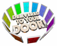 Delivered to Your Door Special Service Words Stock Image