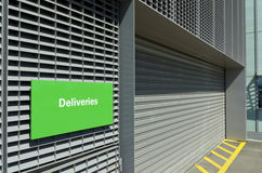 Deliveries sign Stock Images