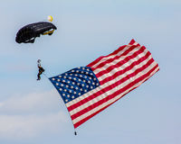 Delivering the American Flag. Royalty Free Stock Photo