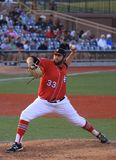 Delivering the baseball pitcher Royalty Free Stock Photo