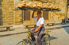 Delivering of bread in Cairo Royalty Free Stock Photos