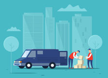 Delivering cargo. stock illustration