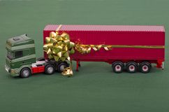 Delivering Christmas Royalty Free Stock Photo