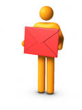 Delivering Envelope. 3D rendered image : Delivering Envelope vector illustration
