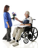 Delivering Flowers Stock Photography