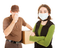 Delivering the Flu Stock Photo