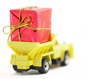 Delivering gift Stock Photos