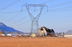 Delivering Hydro Electricity Through Rural Areas royalty free stock photography