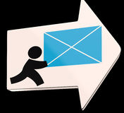 Delivering Mail Arrow Shows Express Delivery Royalty Free Stock Photos