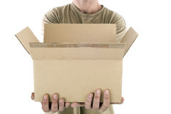 Delivering a package Stock Photography