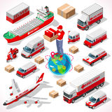Delivery 05 Infographic Isometric Stock Images