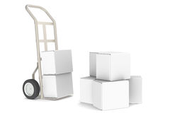 Delivery. Hand Truck with boxes. Part of Warehouse and Logistics Series Stock Photography