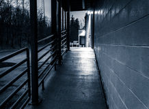 Delivery area of an abandoned shopping center. Royalty Free Stock Image