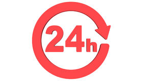 Delivery around the clock icon rotate. Seamless Looping HD Video Clip. 3D render animation stock footage