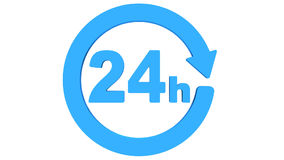 Delivery around the clock icon rotate. Seamless Looping HD Video Clip. 3D render animation stock video footage