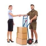 Delivery arrived royalty free stock photo