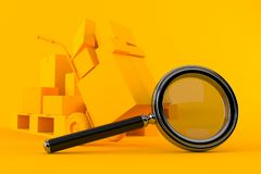Delivery background with magnifying glass royalty free illustration
