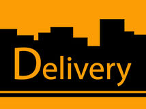Delivery background with urban landscape Stock Photos