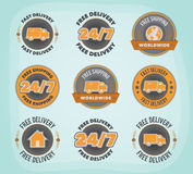 Delivery badges Royalty Free Stock Photos