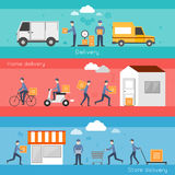 Delivery banner set Royalty Free Stock Images