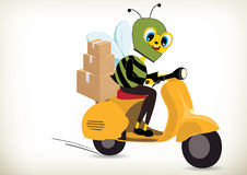 Delivery Bee Royalty Free Stock Photography