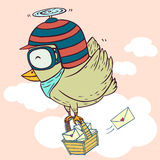 Delivery bird Royalty Free Stock Images
