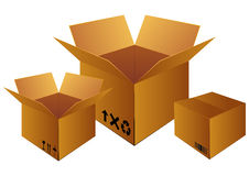 Delivery box Stock Image