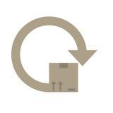 Delivery box around icon. Illustration eps 10 Stock Image